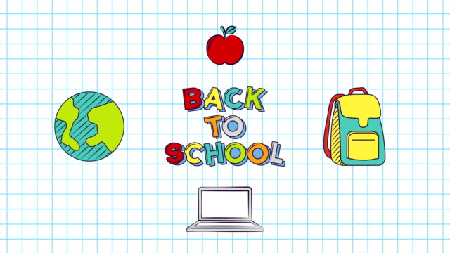 Back to School Animation video
