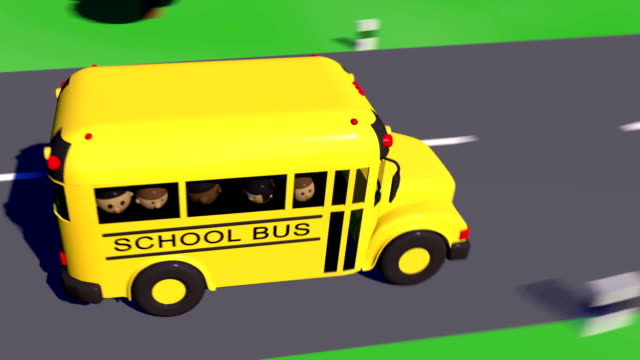 back to school. school bus goes to school. - school buses stock videos and b-roll footage