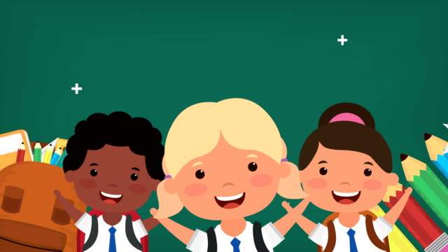 back to school season with interracial kids video