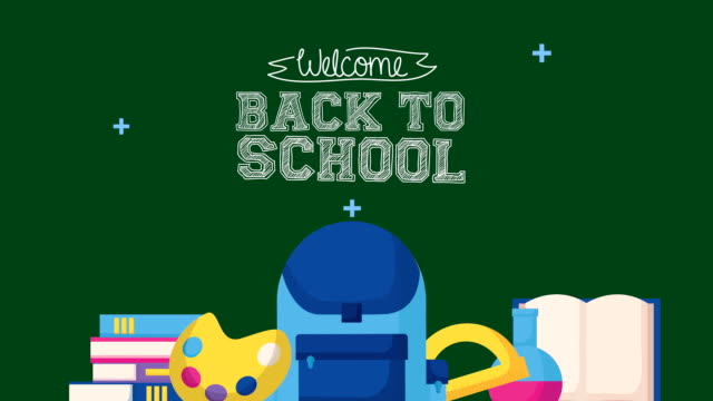 back to school season with set icons video