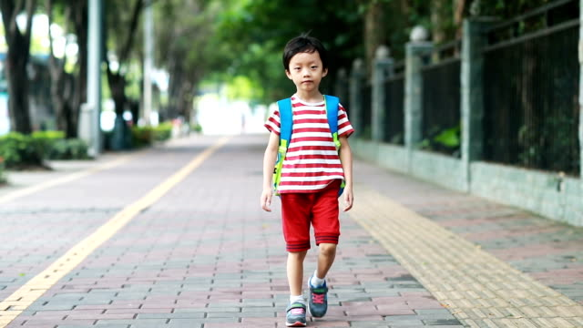 stockvideo's en b-roll-footage met terug naar school - schooljongen