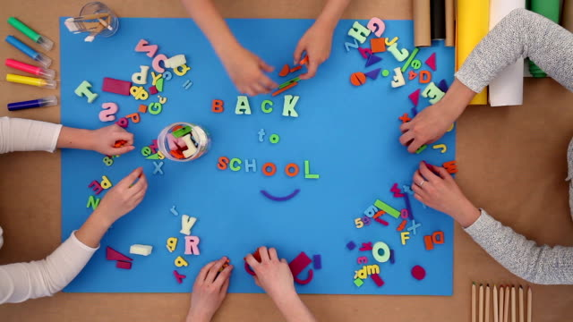 Back to school with plastic letters video