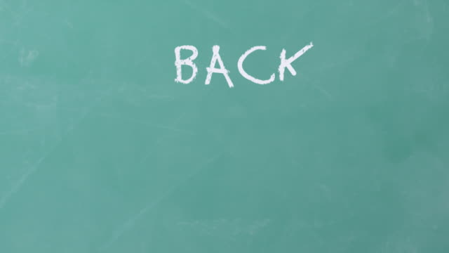 Back to School written on chalkboard video