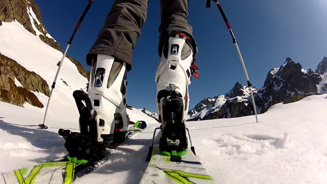 Backcountry skiing video