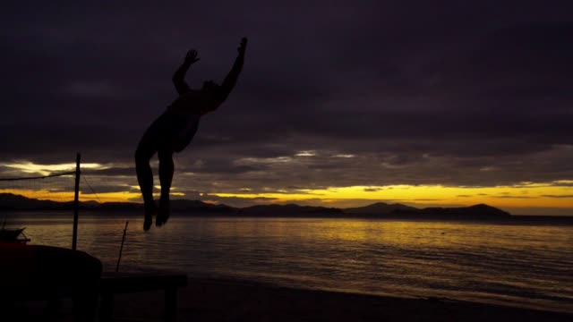 Backflip on a perfect sunset