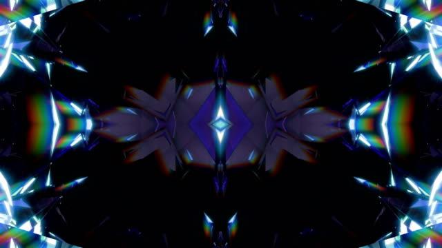 vj background 4k loop - узор калейдоскоп стоковые видео и кадры b-roll