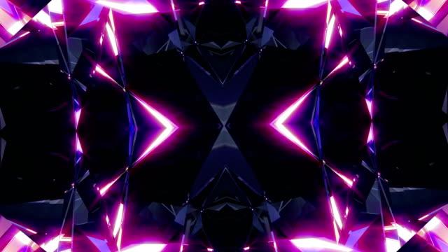 vj background 4k loop - caleidoscopio motivo video stock e b–roll
