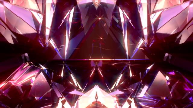 vj background 4k loop - кристалл стоковые видео и кадры b-roll