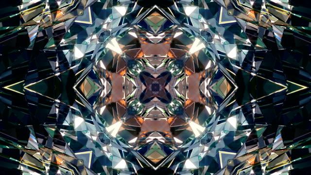 vj dj background 4k loop - узор калейдоскоп стоковые видео и кадры b-roll