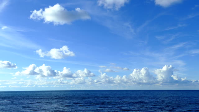 vídeos de stock e filmes b-roll de background - beautiful seascape (time lapse) - horizonte