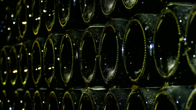background - champagne in the winery video