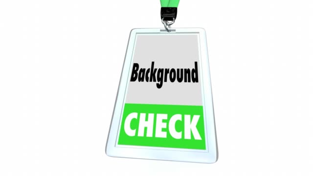 background check vetting security badge lanyard official approval - badge video stock e b–roll