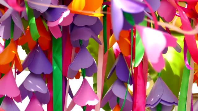 Bидео background - festival garland
