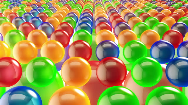 Background of colorful balls - vídeo