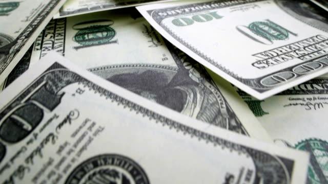 bakgrund av hundra dollar pengar - lön bildbanksvideor och videomaterial från bakom kulisserna
