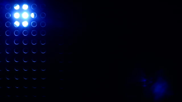 Background of projector shines through grating video