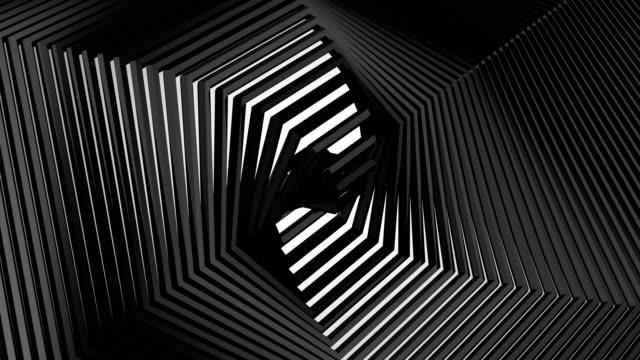 background of rotating hexagons - klocek filmów i materiałów b-roll
