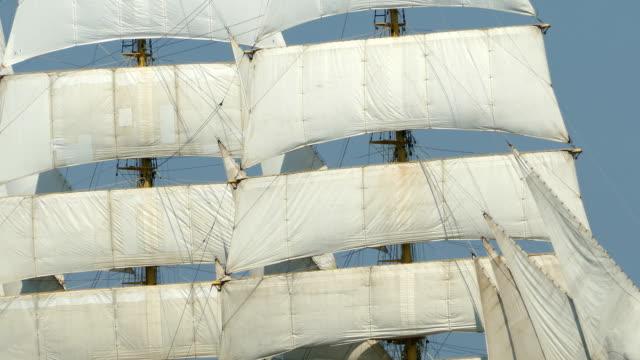 background - vintage sails and rigging