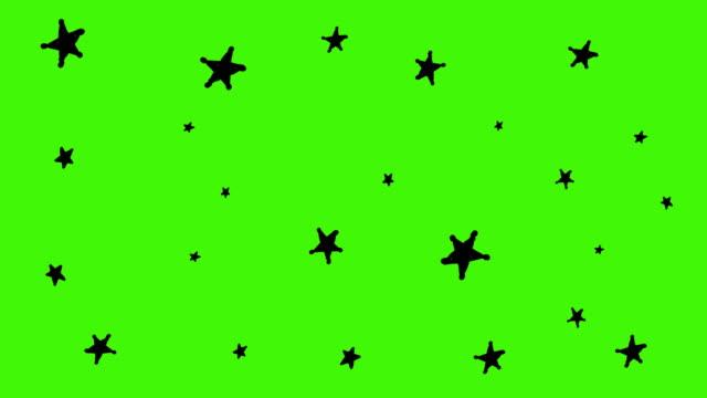 yıldızlar arka plan hareketli el ile çizilmiş - ünlüler stok videoları ve detay görüntü çekimi