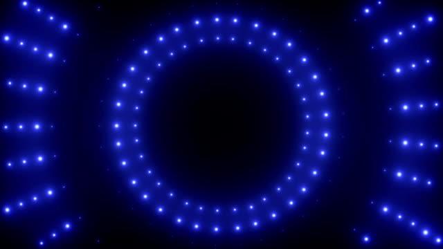 vídeos y material grabado en eventos de stock de fondo de vj con azul neon led - color vibrante