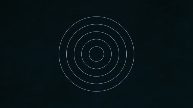 Background with concentric rings moving video