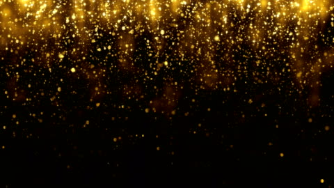 Background with falling golden glitter particles. Falling gold confetti with magic light. Beautiful light background. Seamless loop Background with falling golden glitter particles. Falling gold confetti with magic light. Beautiful light background. Seamless loop glittering stock videos & royalty-free footage