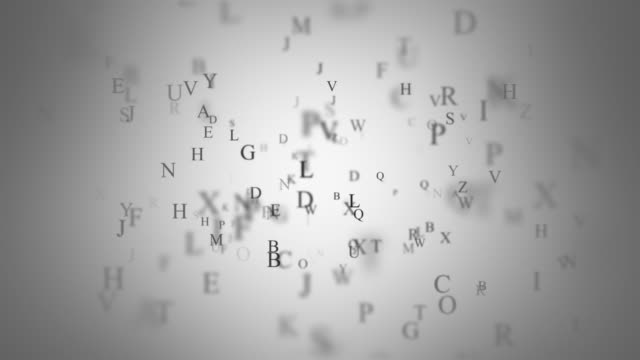 Background with letters Simple animated background with letters. Loop. alphabet stock videos & royalty-free footage