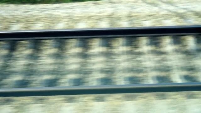 stockvideo's en b-roll-footage met achtergrond met treinverkeer op de spoorlijn bij hoge snelheid. - sleeping illustration