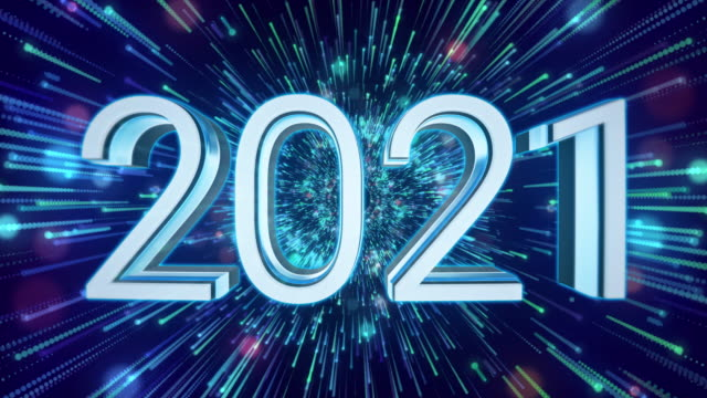 2021 Backgrounds - Loopable Elements - 4K Resolution New Year, Network Server, Technology, Speed, Exploding happy new year 2021 stock videos & royalty-free footage