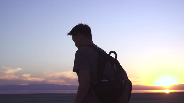 Backpack Sunset Walking video