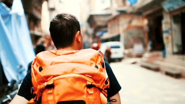 Backpacker on trip video