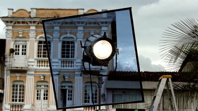 Cine entre bastidores con filtro de luz - vídeo
