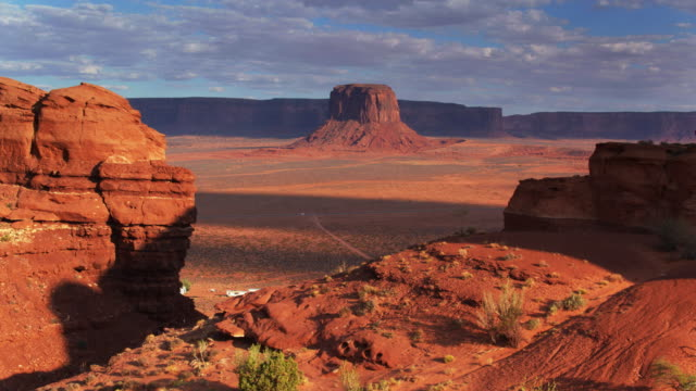 Backwards Drone Shot of Merrick Butte, Monument Valley video