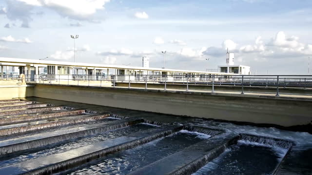 Backwash Process in Water Treatment Plant video