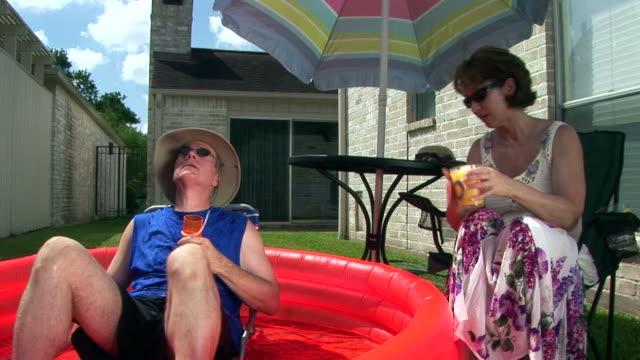 Backyard Vacation Couple video