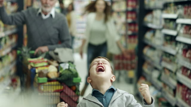 Bad boy in supermarket video