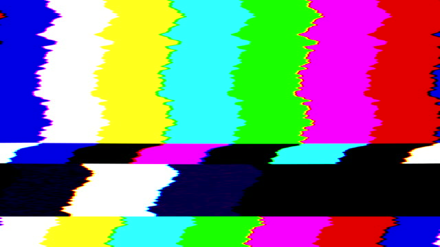 電視信號色條錯誤。4k - 描述 個影片檔及 b 捲影像