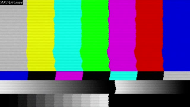 Bad TV signal on the TV screen. video