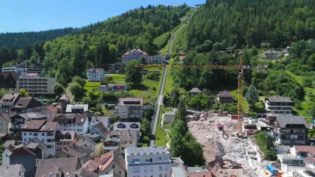 Bad Wildbad around noon from above video