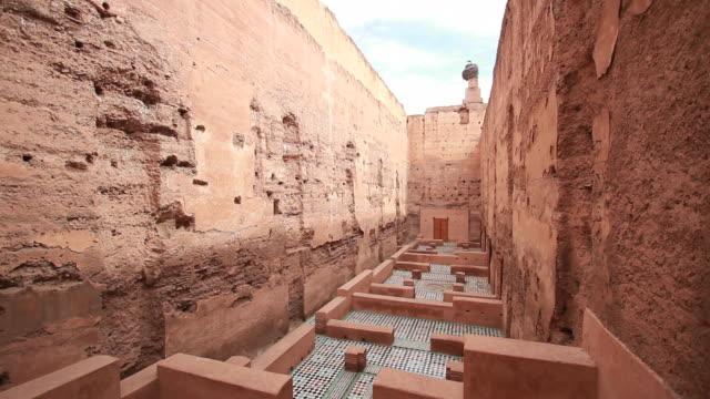 badii palace, marrakech, marocco - souk video stock e b–roll
