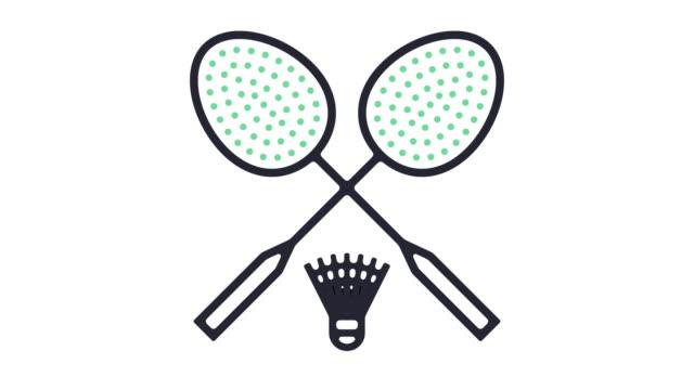 Animation d'icône badminton - Vidéo