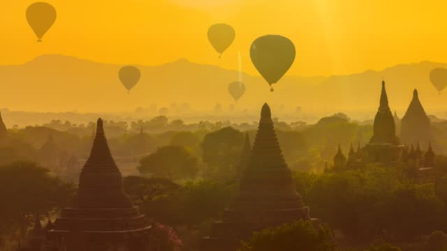 bagan, myanmar - kambodschanische kultur stock-videos und b-roll-filmmaterial