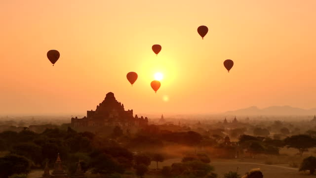 Bagan Sunrise Scene