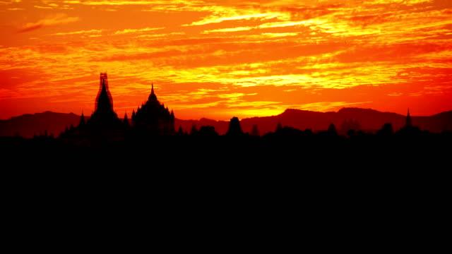 Bagan Temples Day to Night Timelapse, Myanmar (Burma) Day to night timelapse of temples in Bagan, Myanmar (Burma) bagan stock videos & royalty-free footage