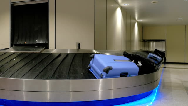 Baggage claim area at the airport video