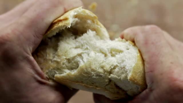 bagietka fo - węglowodan jedzenie filmów i materiałów b-roll