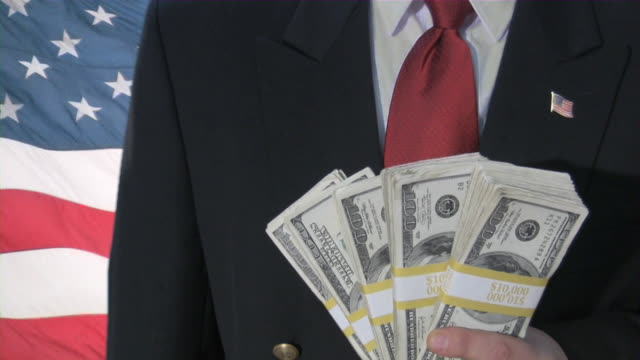 Bailout. Money from US Government. Business, recession, depression, stimulus plan. video
