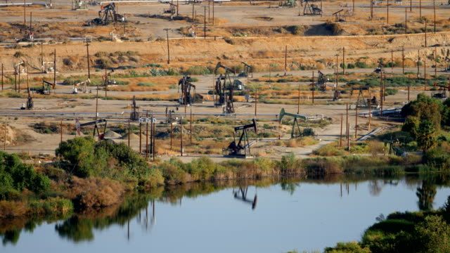 Bakersfield, CA oilfields video