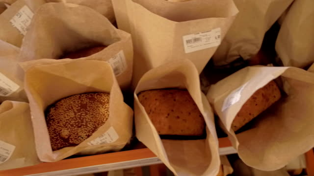 bakery aisle in supermarket - gluten free stock videos and b-roll footage