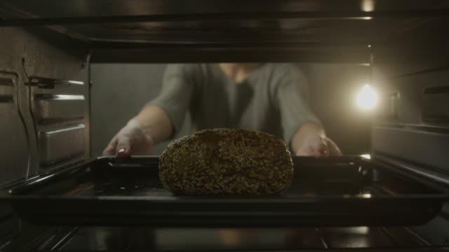 baking bread - pane forno video stock e b–roll